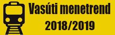 Vasúti menetrend 2018/2019