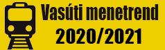Vasúti menetrend 2020/2021